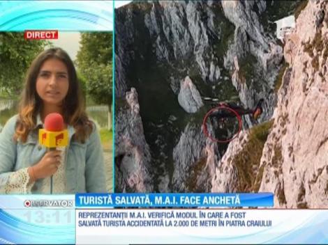 Reprezentanţii Ministerului de Interne analizează intervenţia de salvare a turistei de 42 de ani, accidentată în Piatra Craiului