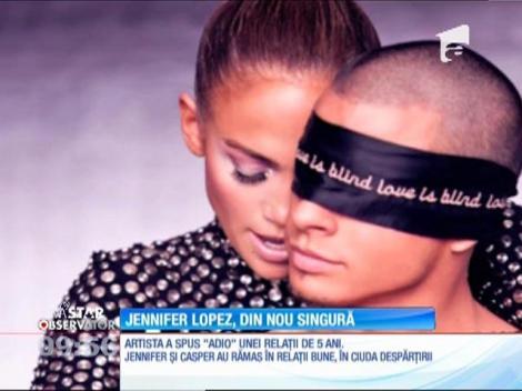 După cinci ani, Jennifer Lopez este din nou singură! Diferenţa de vârstă să fi fost de vină?