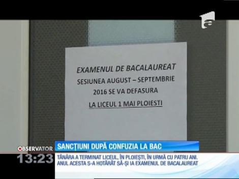 Supraveghetorii care i-au permis unei absolvente din Ploieşti să dea BAC-ul într-o sală greşită au fost sancţionaţi disciplinar.