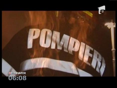 Incendiu violent la rampa de gunoi de lângă Cluj-Napoca