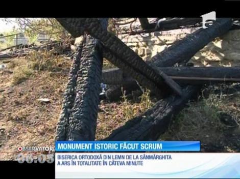 Monument istoric făcut scrum