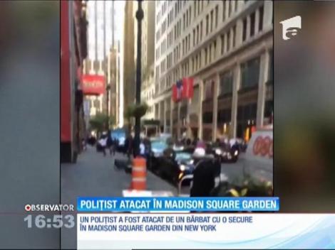 Poliţist atacat în Madison Square Garden