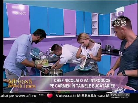 """Panică în casa """"Mireasă pentru fiul meu"""". Una dintre concurente s-a tăiat în bucătărie"""