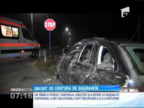 Un tânăr a intrat cu maşina pe contrasens pe drumul dintre Dej spre Baia Mare