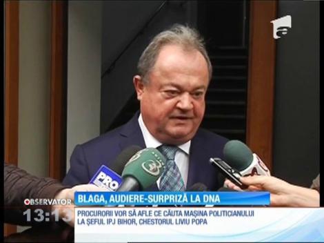 Vasile Blaga a fost audiat la DNA