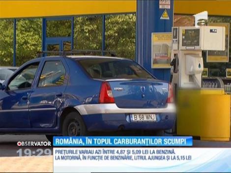 În România, cei mai scumpi carburanţi din Europa Centrală şi de Est