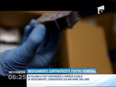 Cea mai mare fabrică de medicamente contrafăcute din lume livra marfă în România
