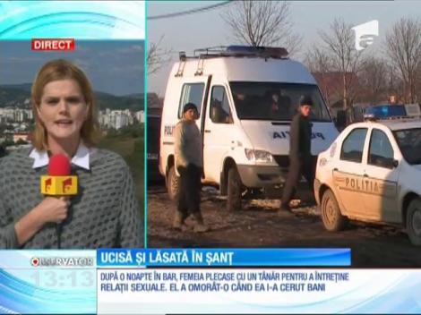 O femeie de 43 de ani din satul Potlogi, Dâmboviţa, a fost ucisă şi lăsată în şanţ