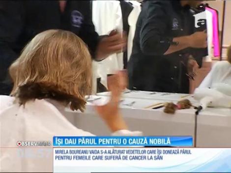 Mirela Boureanu Vaida s-a tuns scurt pentru o cauză nobilă