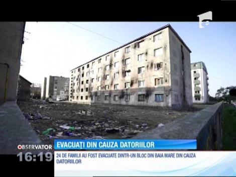 20 de familii dintr-un cartier din Baia Mare au fost evacuate din cauza datoriilor enorme