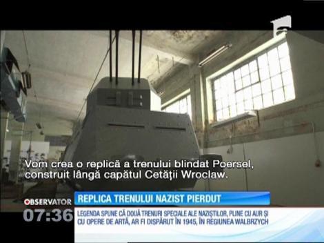 Replica trenului nazist plin cu aur şi artefacte pierdut din sudul Poloniei