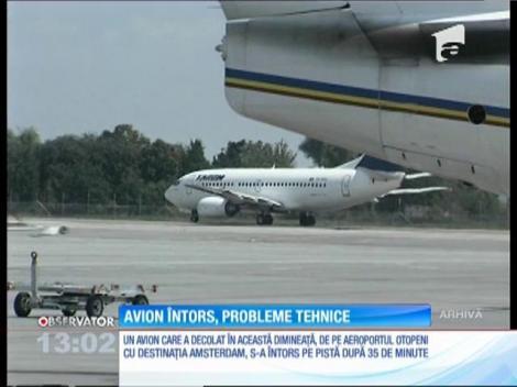 Avion Tarom, întors din cauza unor probleme tehnice
