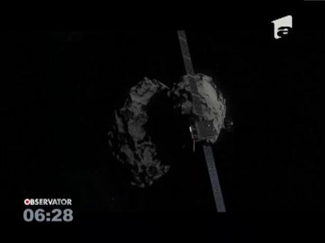 Sonda Rosetta s-a prăbușit pe o cometă