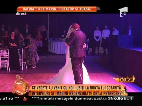 Interviuri și imagini necenzurate de la nunta lui Gabriel Cotabiță