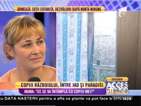 """Mama de origine română care a fugit de războiul din Siria: """"Ce se va întâmpla cu copiii mei?"""""""