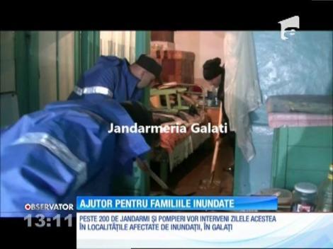 Ajutor pentru familiile inundate din judeţul Galaţi