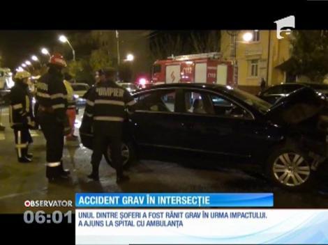 Accident grav într-o intersecție
