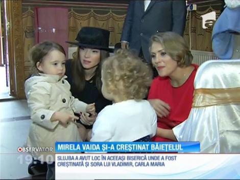 Mirela Boureanu Vaida şi-a creştinat băieţelul