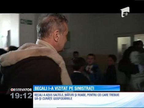 Gigi Becali sare în ajutorul sinistraţilor de la Pechea!