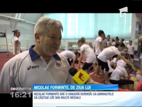 Antrenorul lotului de gimnastică, Nicolae Forminte, a împlinit 60 de ani