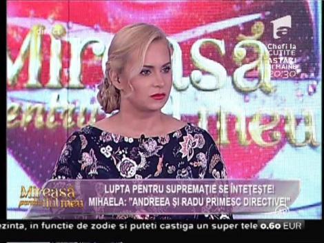 """Mihaela de la """"Mireasă pentru fiul meu"""" acuză: """"Andrada şi Radu primesc directive!"""""""