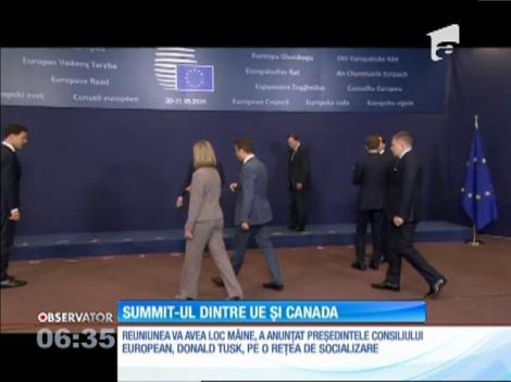 Summit-ul dintre Uniunea Europeană şi Canada va avea loc duminică