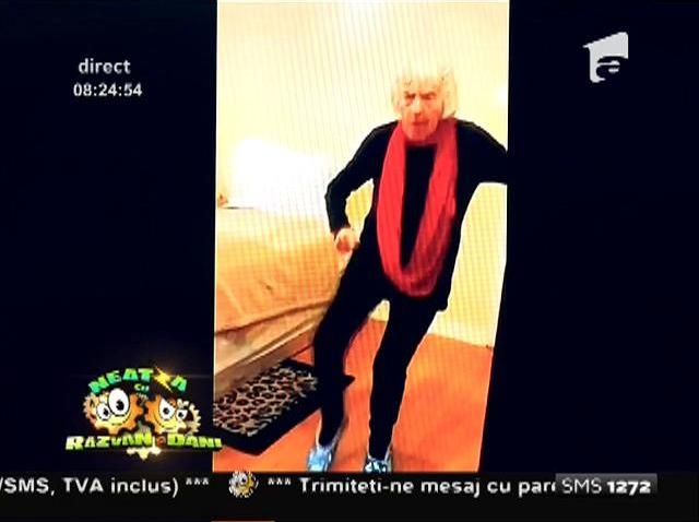 """VIDEO! Cum o să danseze Flavia Mihășan la 90 de ani? Exemplarul """"bunicuța în figuri"""" te va face să râzi cu lacrimi!"""