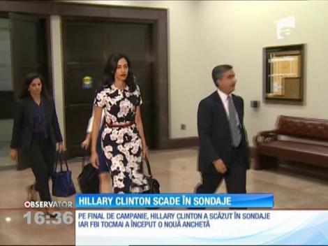 Hillary Clinton scade în sondaje