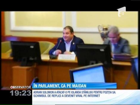 Adrian Solomon a jignit secretarul de stat venit să atragă atenţia parlamentarilor că nu există bani în buget pentru măriri de lefuri