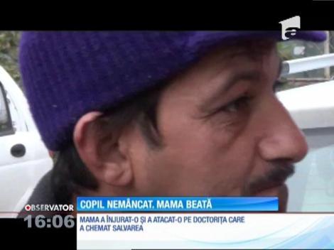 O femeie s-a prezentat cu copilul subnutrit la medicul de familie, moartă de beată