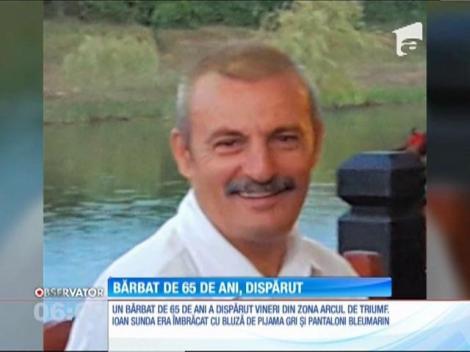 Un bărbat de 65 de ani a dispărut în zona Arcului de Triumf din Capitală
