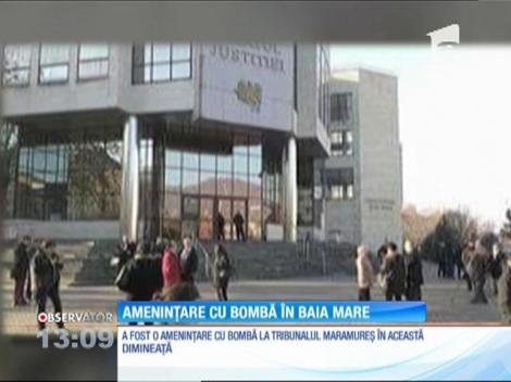 Ameninţare cu bombă în Baia Mare. Palatul de Justiție a fost evacuat după ce o valiză suspectă a fost depistată acolo