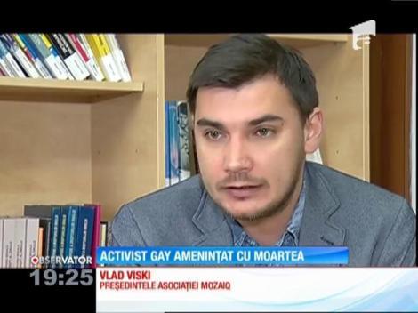 Activist gay amenințat cu moartea