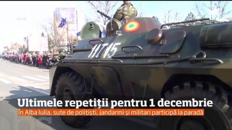 Repetiţiile pentru paradele militare de Ziua României s-au încheiat