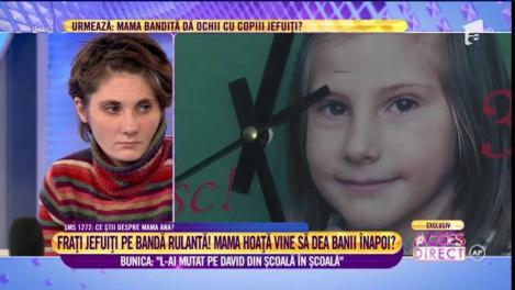 Ea este Maria, are opt ani, iar mama ei îi fură alocația!