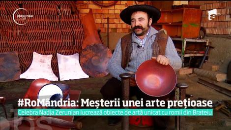 #RoMândria: Directorul de creaţie al Calvin Klein şi Swarowski lucrează obiecte de artă unicat cu romii căldărari din Brateiu