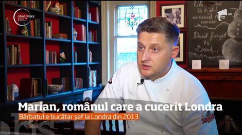 """Frizer în Bucovina, șef în Londra! Marian, românul care l-a cucerit pe Jamie Oliver: """"Când am plecat de acasă, am crezut că toată lumea poartă umbrelă și joben"""""""
