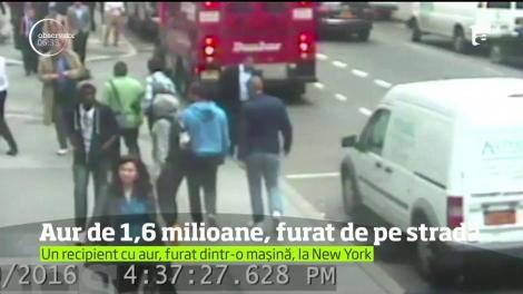 Un recipient cu pulbere de aur, în valoare de 1,6 milioane de dolari, furat în plină stradă la New York