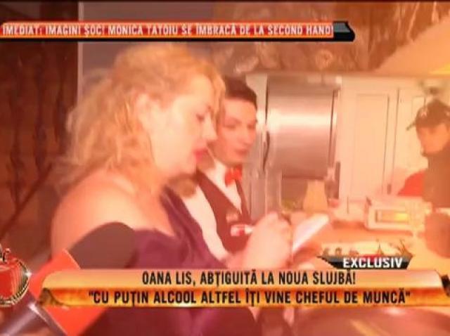 """Oana Lis, abţiguită la noua slujbă: """"Cu puţin alcool altfel îţi vine cheful de muncă"""""""