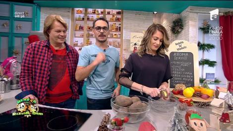 Raluka, campioană la curățat cartofi!