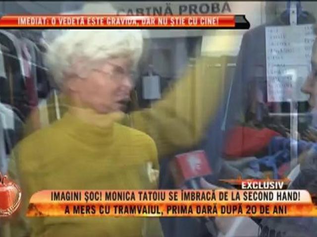 Imagini şoc! Monica Tatoiu se îmbracă de la second hand!
