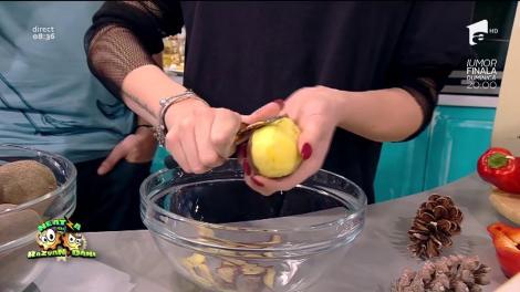 Raluka prepară rețeta copilăriei ei, tocăniță de cartofi și gutui