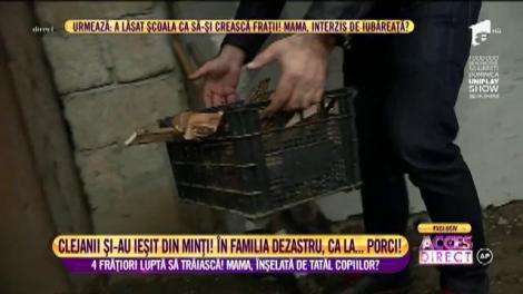 Viorica, Ioniță și Margherita de la Clejani au găsit patru copii mici într-o mizerie cruntă