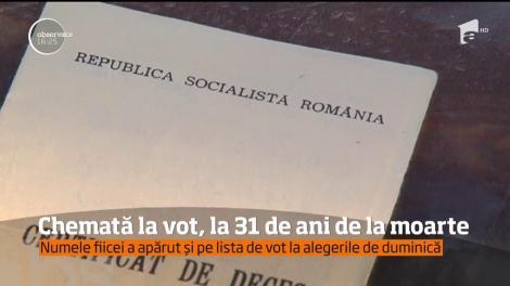 O femeie din Argeş a fost chemată la vot, la 31 de ani de la moarte