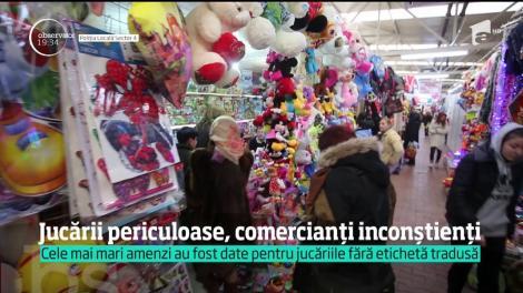 Bucuria comercianţilor de jucării, întreruptă de inspectorii de la Protecţia Consumatorului