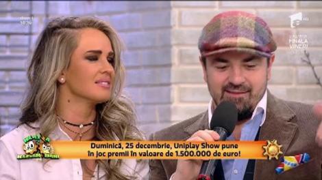 """Horia Brenciu şi Diana Munteanu, moderatorii Uniplay Show: """"Doi braşoveni vor prezenta în premieră aceeaşi emisiune!"""""""