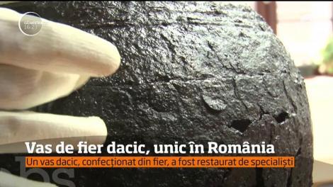 Un vas dacic, confecționat din fier, a fost restaurat de specialiști