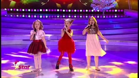 """Spice Girls de România! Sofia Isaccea, Giulia Danca și Sofia Maria Ciobanu ne-au încântat cu """"Jingle Bells"""" în ediția specială de Crăciun"""