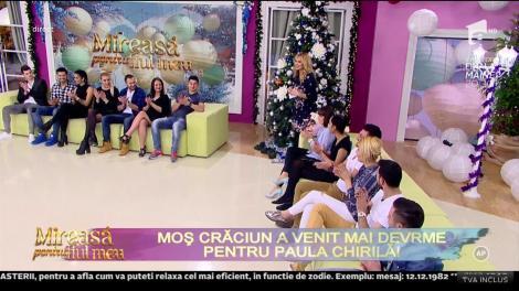 Moș Crăciun a venit mai devreme pentru Paula Chirilă!