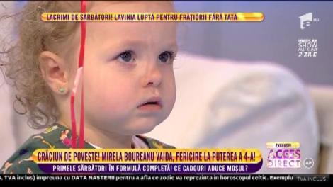 Ce fetiță dulce are Mirela Boureanu Vaida! Prezentatoare a adus-o pentru prima dată pe Carla într-un platou de televiziune